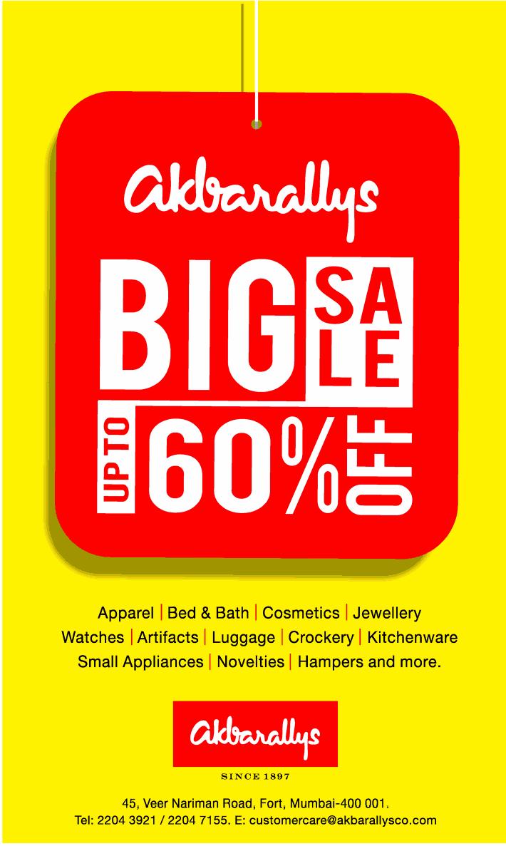 Akbarallys furniture big sale upto 60 off starts on 24th for Biggest furniture sale