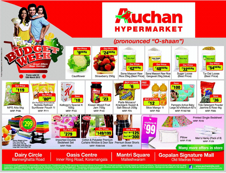 Auchan Hypermarket Budget Week Huge Savings Starts On 02nd
