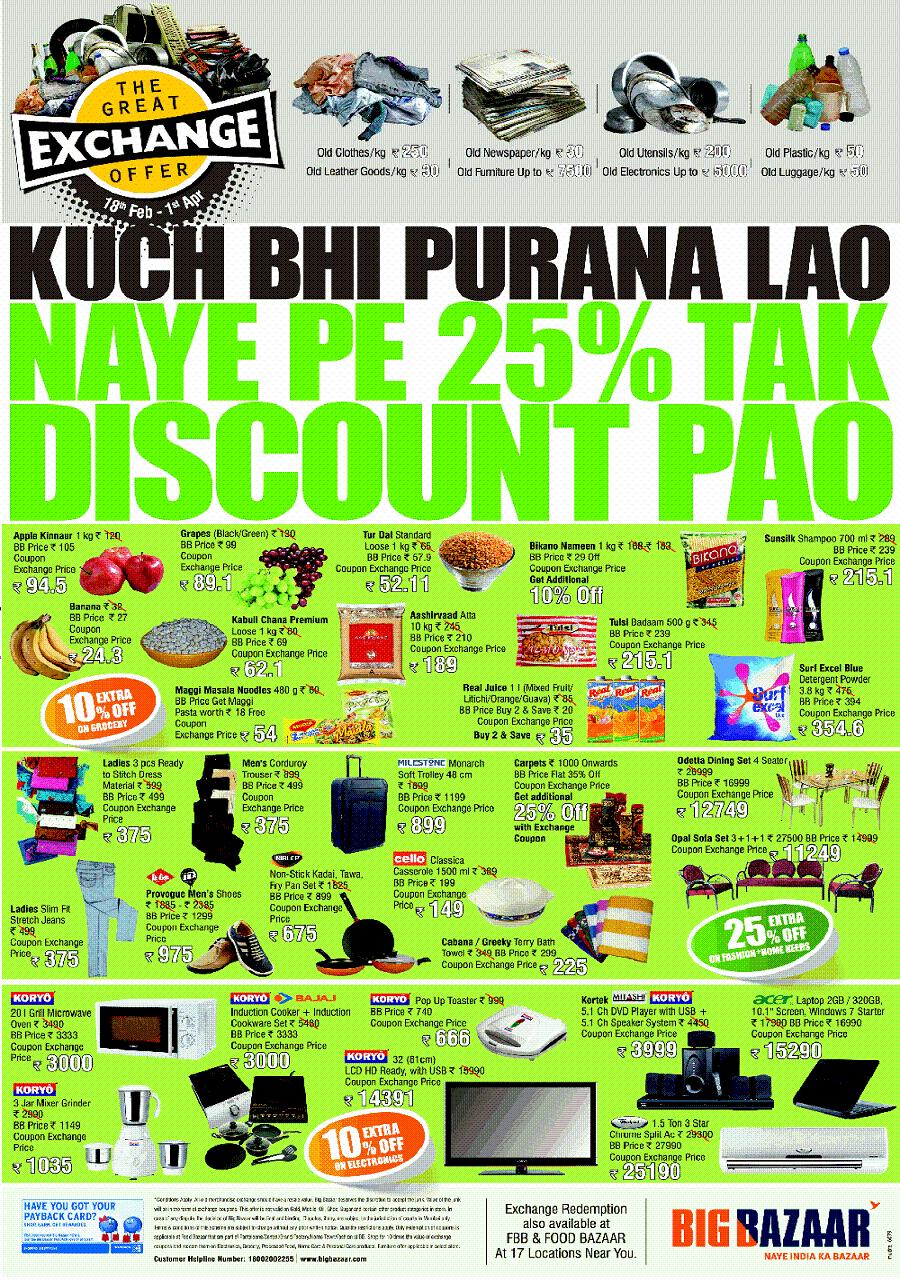 big bazar price control on customer