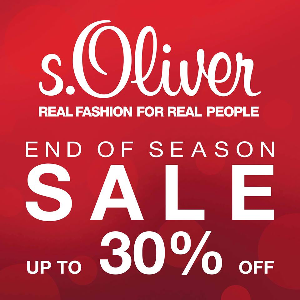 s oliver end of winter season sale in 2013 starts on 20th. Black Bedroom Furniture Sets. Home Design Ideas